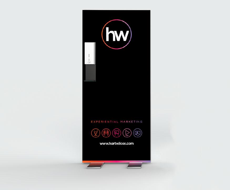 High Impact Freestanding Hand Sanitiser Wall