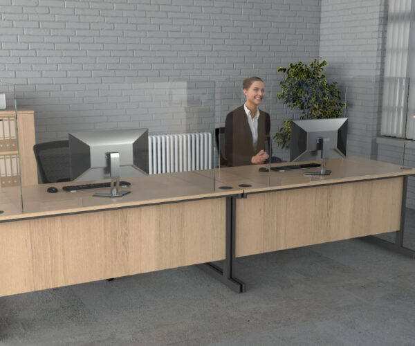 Enclosed Desk Dividers