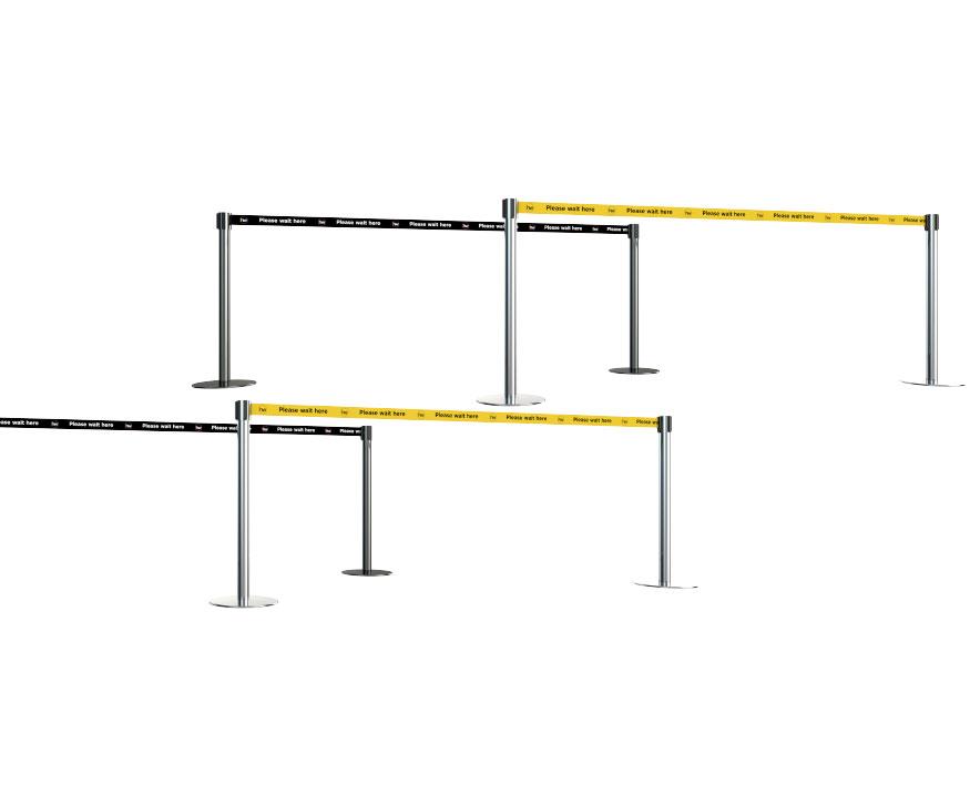 Printed Belt Queue Barriers