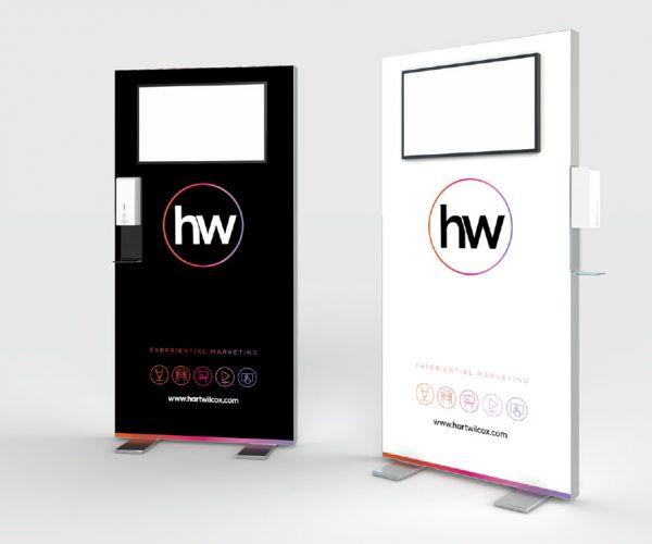Premium Freestanding Hand Sanitiser Video Wall